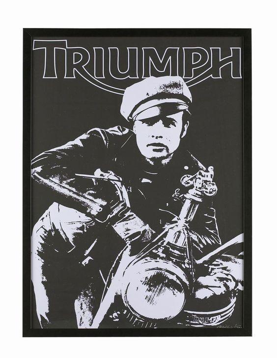 marlon brando limited edition triumph poster | Triumph: Marlon Brando Sonderserie