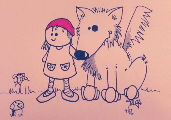 Rotkäppchen und der große Wolf