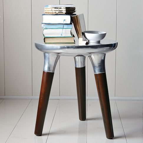 Aluminum Wood Side Table at West Elm $199