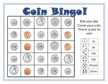 Simple game for early finisher work or math rotations. Hopefully a way to help struggling students do better with coin names and values.Print in color, mount on card-stock then laminate.: