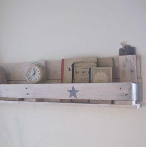 Etag Re En Palette Shelf Made With A Pallet Meubles Et Objets Pure Sweet Home D Co Dyi