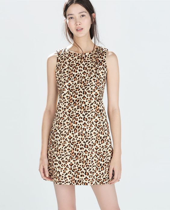 Image 2 of SLEEVELESS PRINTED DRESS from Zara