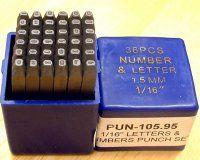 Letter & Number Punch Set - 1/16