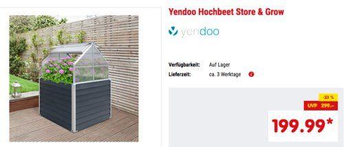 Yendoo Hochbeet Store Grow Mit Integriertem Stauraum 120 X 169 X 120 Cm Hochbeet Haus Und Garten Beete