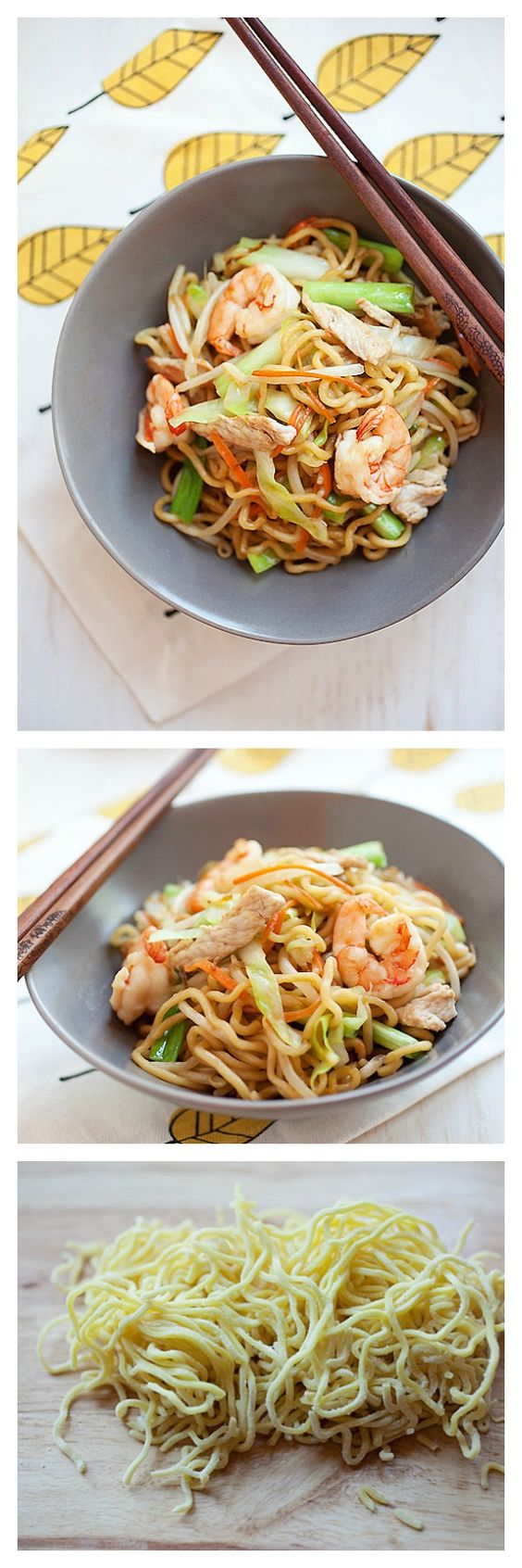 Chow Mein, or Chinese fried noodles, your favorite Chinese noodle dish ...