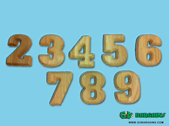 Oaken Wooden Numbers 0-9 Kids Craft_Stationery_GV Bargains : SPECIALS