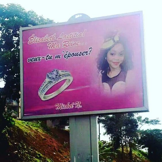 Voilà un bel exemple de romantisme...Bravo #awasome #proposal #Cameroun #Team237 #love #instamood