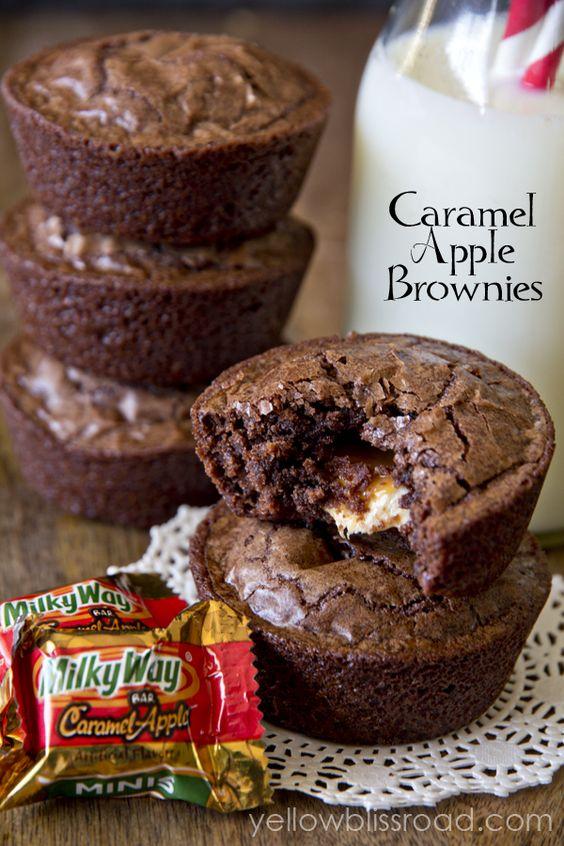 ... Brownies | Recipe | Apple Brownies, Caramel Apples and Fudgy Brownies
