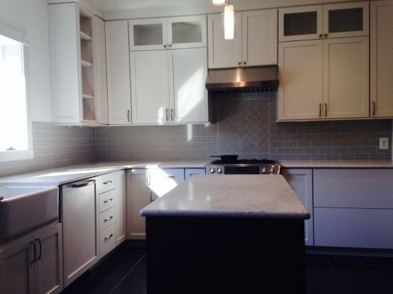 Best This Kitchen Backsplash In Northern Va Features Our 3X6 640 x 480