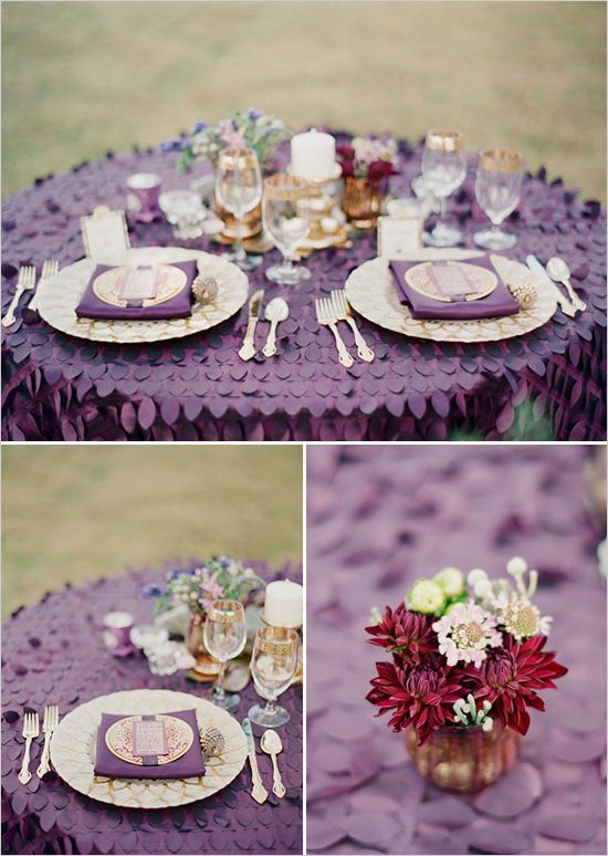 I Love The Ruffle Texture Of This Table Cloth. With This Being A Statement  Piece · Purple ...