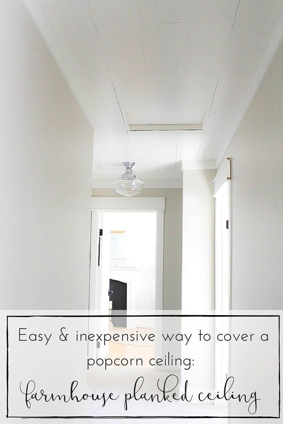 Farmhouse Style Popcorn Ceiling And Popcorn On Pinterest