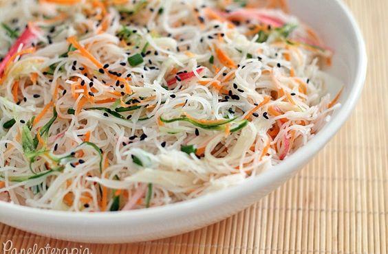 Salada de Macarrão de Arroz – Panelaterapia