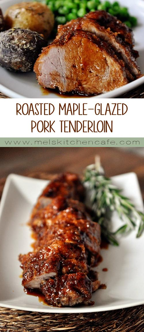Roasted Maple-Glazed Pork Tenderloin - Not only is this pork incredibly simple, the sweet maple flavor with the smoked paprika and hint of ginger is stunningly tasty.