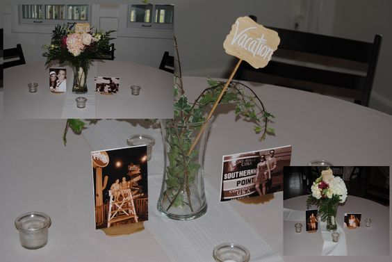 Love this idea for tables. The couple used key events in their life: college, concerts, vacations, etc....   #RCBAudio #idjcharleston