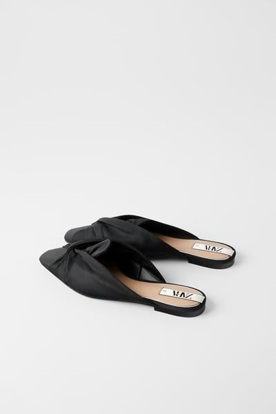 FABRIC MULES WITH KNOT from Zara