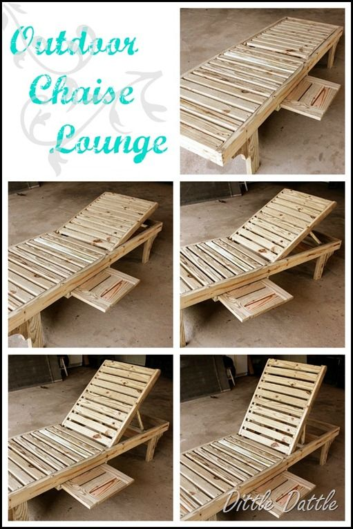 Outdoor Chaise Lounge · Diy ... : how to make a chaise lounge - Sectionals, Sofas & Couches