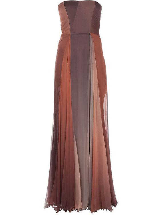 Tri-color long dress