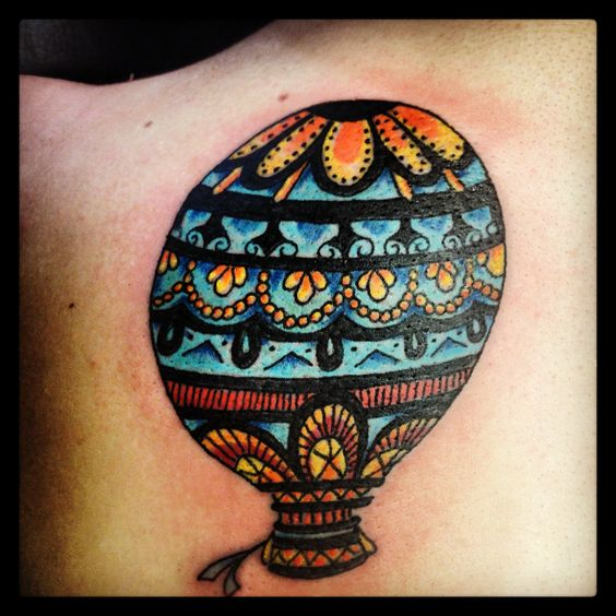 My second tattoo! Hot air balloon done by Mind Crusher Tattoo in Rogers Park, IL