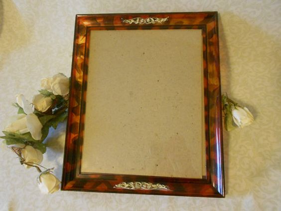 Antique Faux Tortoise Shell Picture Frame