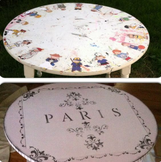 "Before/After: Kids ""PARIS"" Table"