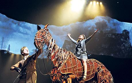 War Horse... Every minute was visually stunning and What could have been sappy emotion was handled so well by all on stage that it was, in fact, very moving.  Loved it!