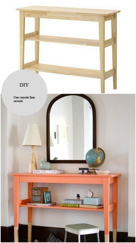 Customiser Une Console Ikea Un Diy Pour Un Meuble Mis En Valeur En 2020 Mobilier De Salon Transformation De Meubles Deco Maison