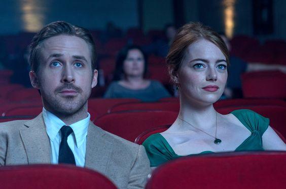 La La Land- Gosling y Emma Stone en el cine