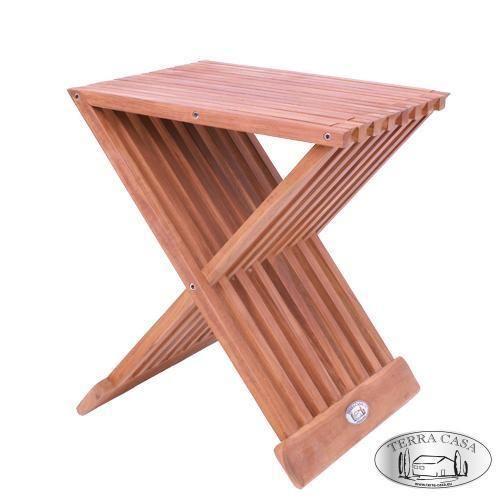 Beistelltisch Kendari Gartentisch Klapptisch Eckig 45 Cm Teak Holz Hocker Blumen Teak Holz Beistelltisch Hocker