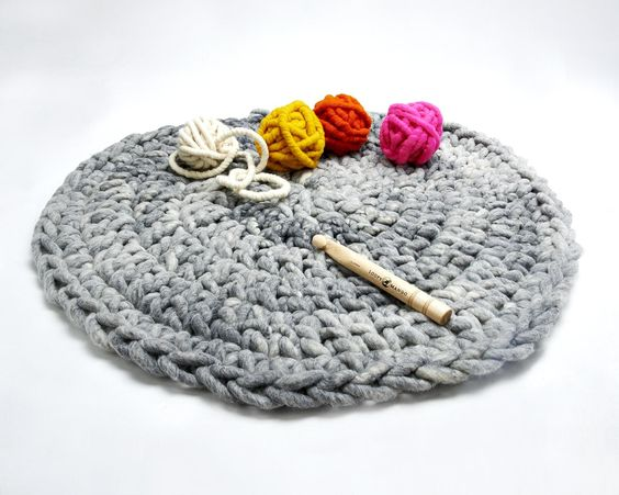 Loopy Mango Aspen crocheted rug - available as a hand made product or a DIY Kit on loopymango.com