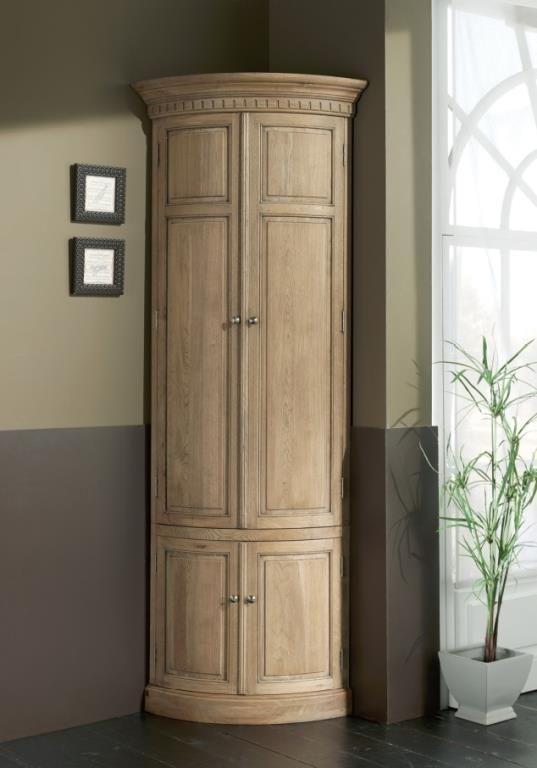 Encoignure Classique Chene Massif 117x230cm Medicis Tall Cabinet Storage Storage Cabinet Design