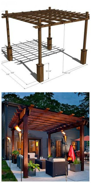Pergolas build your own and how to build on pinterest for Build your own pergola