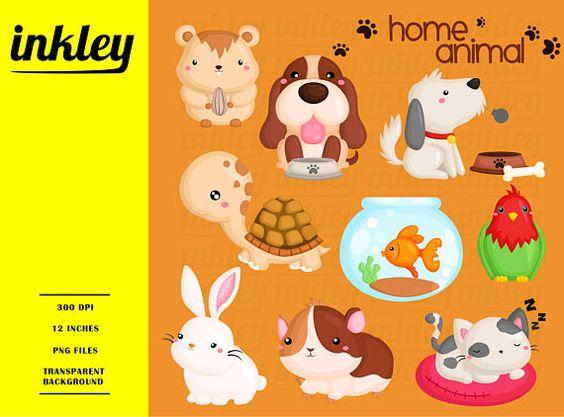 Casa Mascota Animal Clipart Perro Y Gato Clip Art Lindo Etsy In