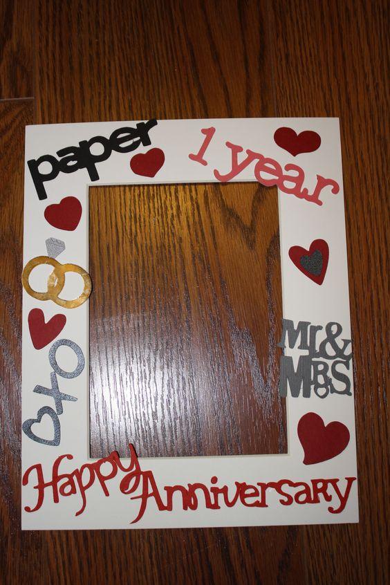 1st Wedding Anniversary/ Paper Anniversary Photo Mat