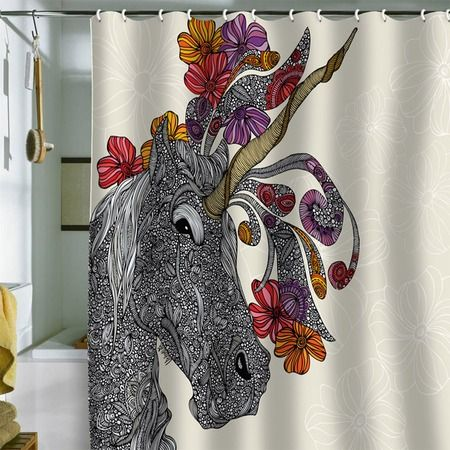 I pinned this Unicornucopia Shower Curtain from the Valentina Ramos event at Joss and Main!