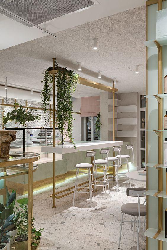 Cute & Cava beauty salon Location: Kyiv, Ukraine Team leader: Kateryna Mardanova Project architect:  Maria Draga Area: 126,5 m2 Project year: 2018 Photographer:  Serhii Savchenko