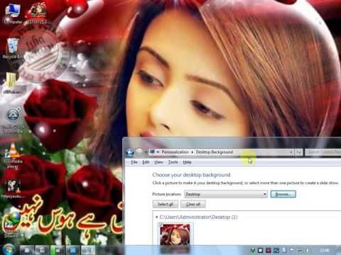 How To Change Your Desktop Background On Window 7 Youtube You Changed Photoshop Effects Cool Pictures