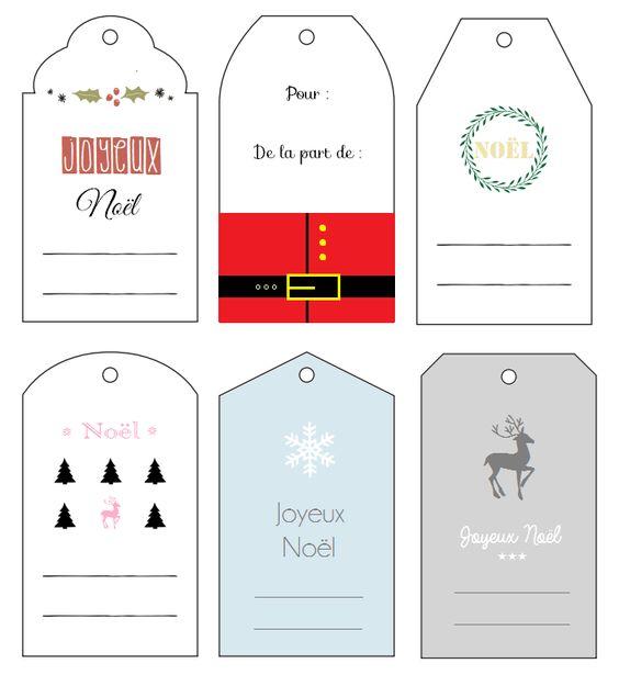Dans l'ère du DIY, je vous propose de réaliser 6 étiquettes cadeaux aux couleurs de Noël, à télécharger et imprimer gratuitement {free printable}.