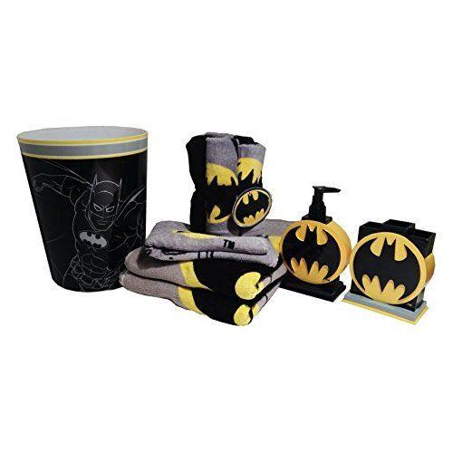 Batman Bathroom Accessories 12pc Bundle Batman Bathroom Batman Room Superhero Bathroom