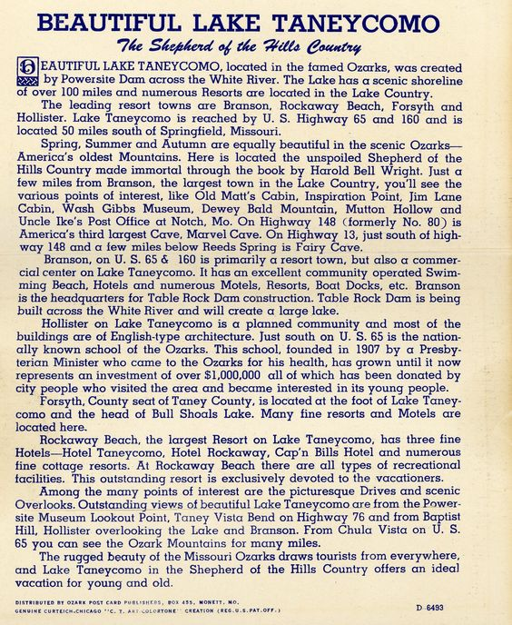 1930's info. Hagins collection.