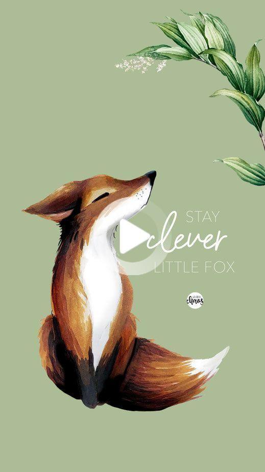Little Fox Wallpaper Fox Illustration Fox Background Fox Art