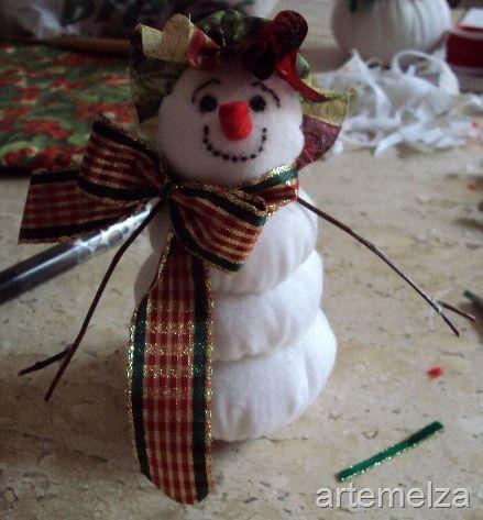 Passo a Passo: Boneco de Neve de Fuxico