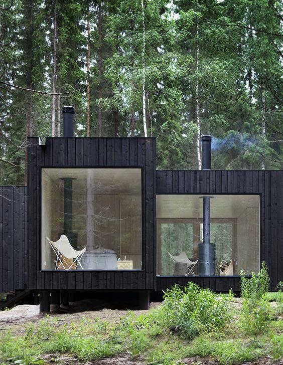Retreat in Finnish forest.: