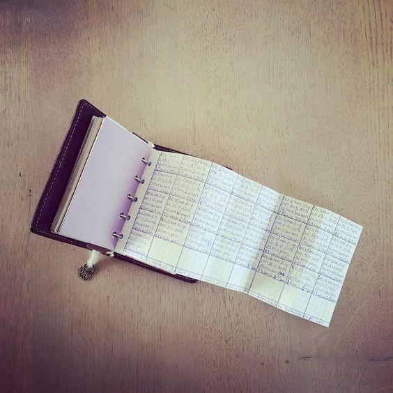 Keeping track running in my #filofax #filofaxmalden #maldenpurple #filofaxmini #dutchfilofaxers  by filofaxie