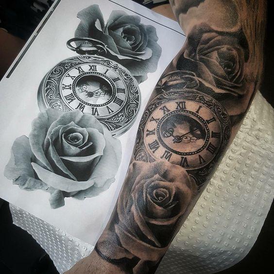 49 Amazing Clock Tattoos Ideas Sleeve Tattoos Clock Tattoo Tattoos