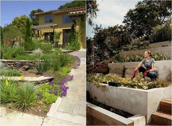 Am nager son jardin en pente conseils pratiques et photos deco design and oder - Amenager son jardin en pente ...