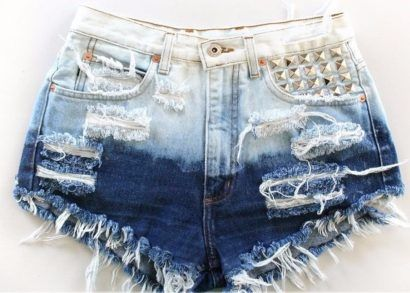 shorts jeans femininos degradê