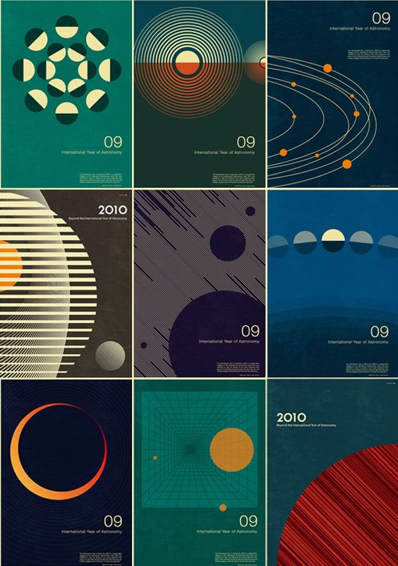 Astronomy posters from Simon C Page. I want to do something more abstract.