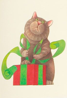 Cat wrapping! Linnea Riley: