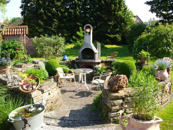 uberdachter grillplatz im garten – proxyagent, Gartengestaltung