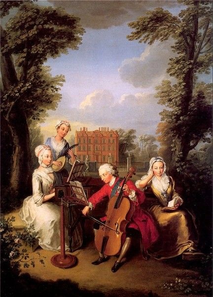 Mercier, Philippe (1689-1760) - Frederick, Prince of Wales and his Sisters at Kew